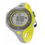 Soleus Chicked grey/silver/yellow Womens 30 Lap Memory Sports Watch