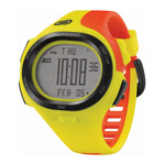 """Soleus P.R. Orange/Yellow Brand New Includes One Year Warranty, The Soleus P.R. is a full featured sports watch for athletes and health enthusiasts to make their workouts more efficient. This durable and stylish watch is convenient for running, swimming and biking. With 5 interval timers and a 30 lap memory, the Soleus P.R. helps athletes and marathoners, to record their performance goals by keeping tabs on the clock. The Soleus P.R. watch has large display with easy-to-read digits makes it easy to take a quick look at your splits mid-stride. The two alarms in this watch helps you to keep in-workout reminders. P.R. Features: Sports Watch, Stainless Steel Casing w/ Durable PU Co-mold Strap, Durable & Lightweight, 30 Lap Memory - Records Rapidly Improving Split Times, Convertible Display - Digital Display w/ Large Numbers & Letters, 5 Interval Timers - Train Your Lungs For Immortality, EL Backlight, Dual Time, 2 Alarms, Water Resistant to 100m"""